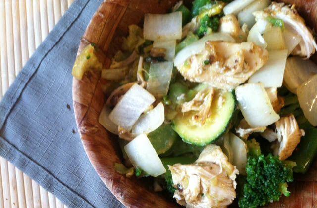 Chicken & Squash Vegetable Easy Stir Fry Recipe