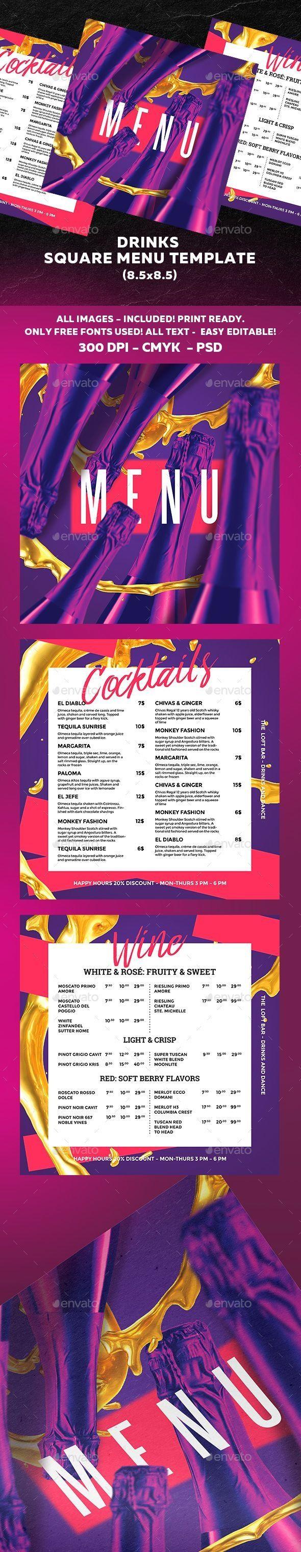 Restaurant Menu Template FoodMenu Template Designs 24