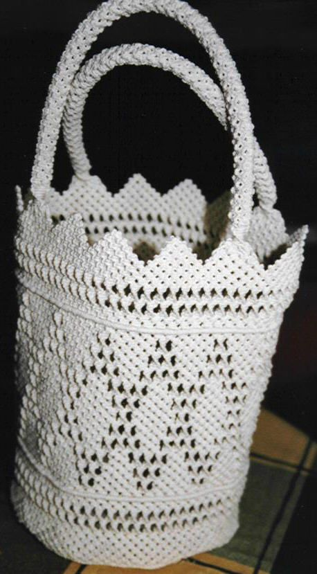 303 best bolsos en macrame images on Pinterest | Macrame
