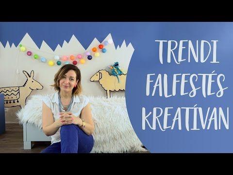 Trendi falfestés kreatívan | Variálható a kedvenc színeiddel - INSPIRACIOK.HU…