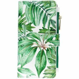 Design Luxe Portemonnee voor iPhone Xr – Bladeren Groen