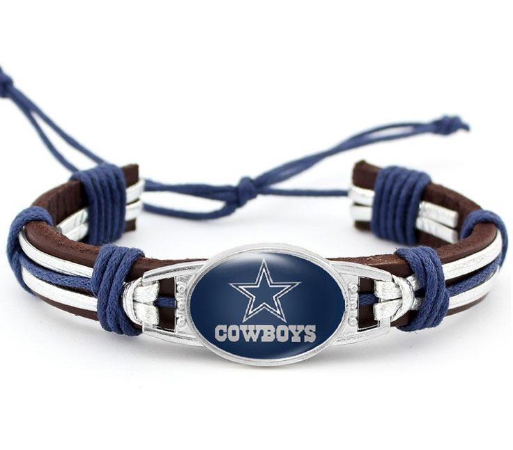 Dallas Cowboys Leather Adjustable Bracelet
