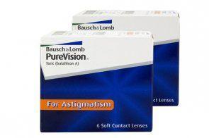 PureVision Toric 6 Stück x 2 , Torische Kontaktlinsen