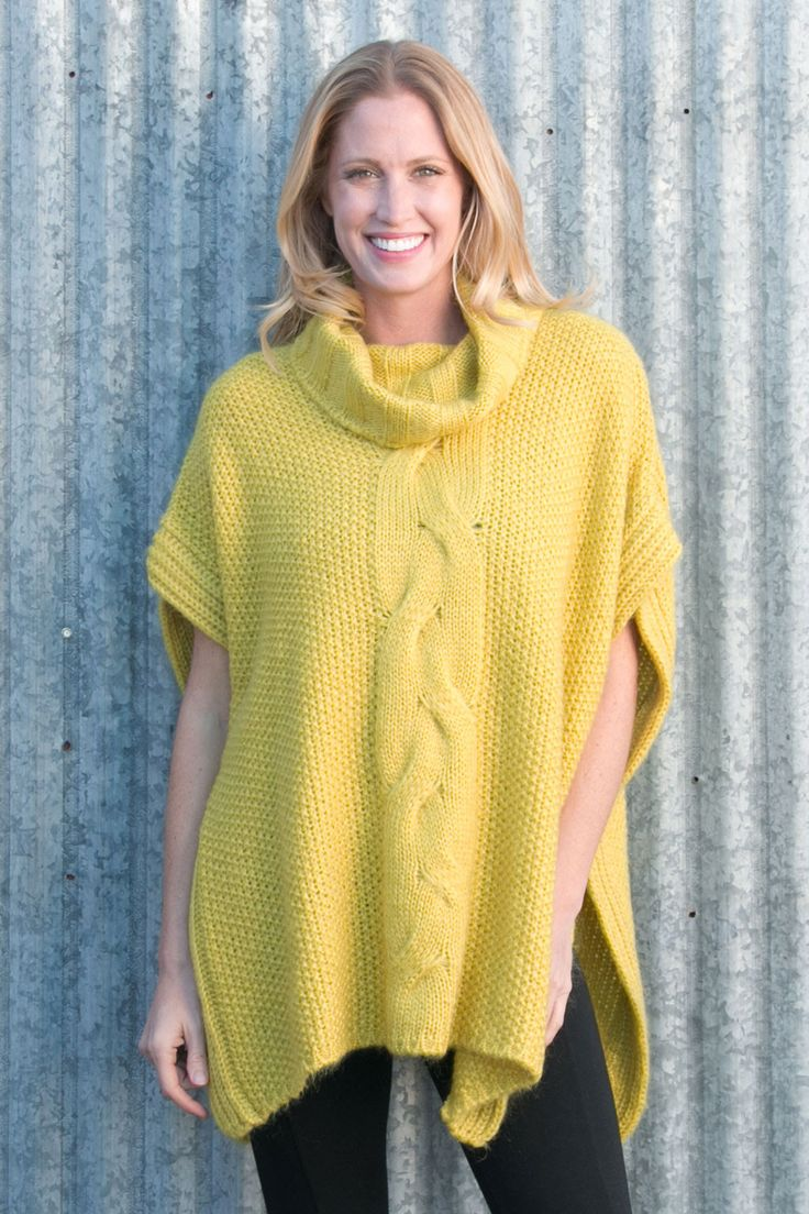 Knotted Up Mohair Poncho