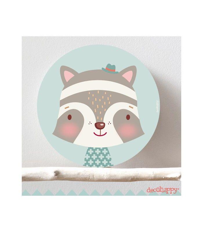 Cuadro infantil mapache