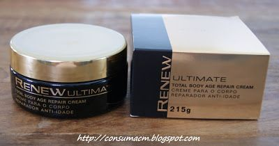 Testando - Linha Renew Ultimate: Renew Ultimate Noite Gold Emulsion Emulsão Hidratante Intensiva Anti-Idade e Renew Ultimate Total Body Age Repair Cream - Creme para o Corpo Reparador Anti-idade - Avon | Consuma com Moderação