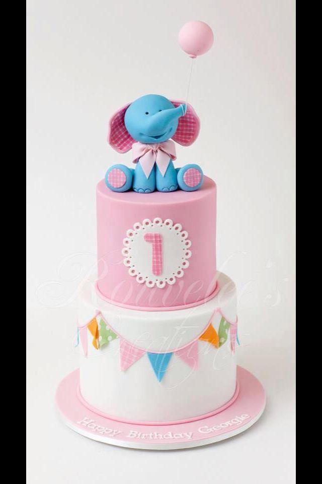 La más linda torta con elefante