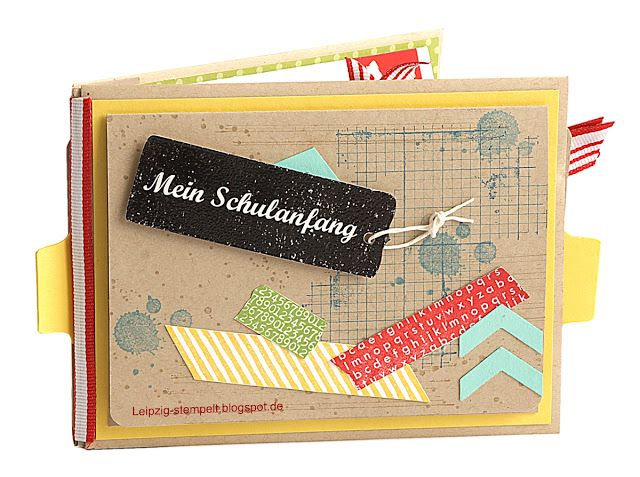 Leipzig stempelt - mit Stampin' Up!®: Album zum Schulanfang mit Printouts
