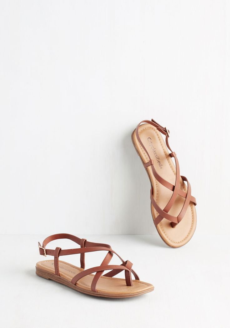 Skip Hop Hooray Sandal in Cognac. Celebrate sunny skies and balmy breeze in these charming tan sandals. #tan #modcloth