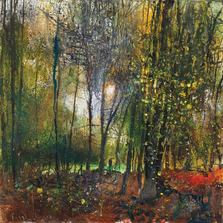 Kurt Jackson: Fungi hunter. November 2014 Campden Gallery, fine art, Chipping Campden, camden gallery, contemporary, contemporary arts, contemporary art, artists, painting, sculpture, abstract painting, gloucestershire, cotswolds, painting for sale, artwork for sale, modern art gallery, art exhibitions,arts gallery, gallery art, art gallery UK