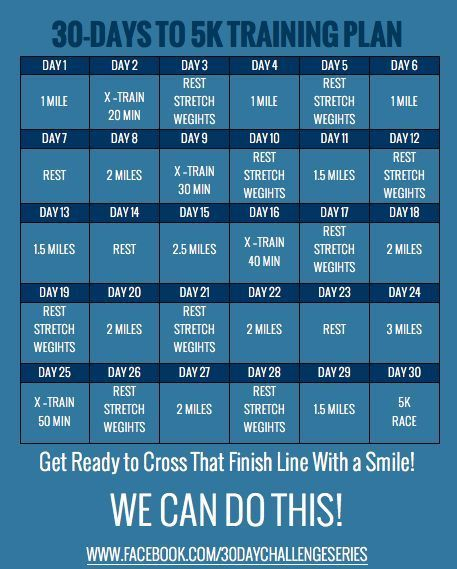 Whether it be your first or your fastest -- this little plan can help! 30 Days to 5K Training Challenge | Eat. Drink & be Skinny! #workout #exercise
