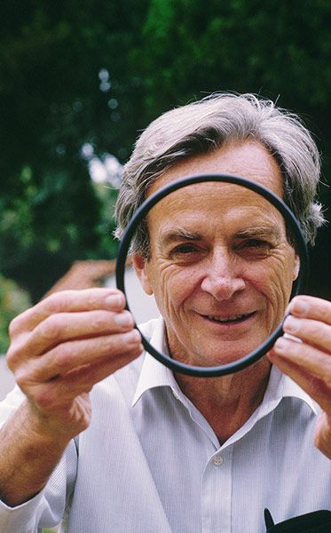 """Richard Feynman - Physicist -""""Scientific views end in awe and mystery, lost at the edge in uncertainty, but they appear to be so deep and so impressive that the theory that it is all arranged as a stage for God to watch man's struggle for good and evil seems inadequate."""""""