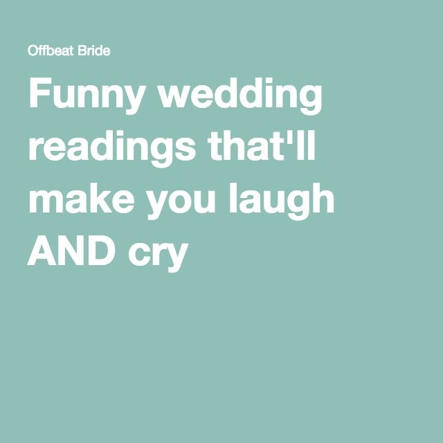 1000+ Ideas About Wedding Readings Funny On Pinterest