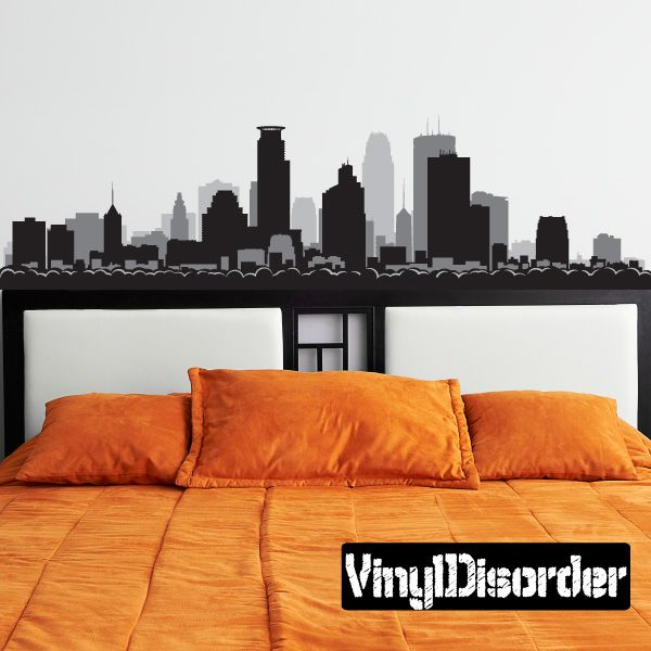 Minneapolis minnesota skyline vinyl wall decal or car sticker ss103
