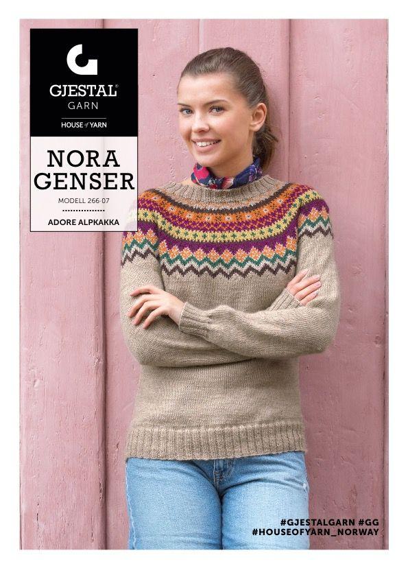 Dagens gratisoppskrift: Nora | Strikkeoppskrift.com