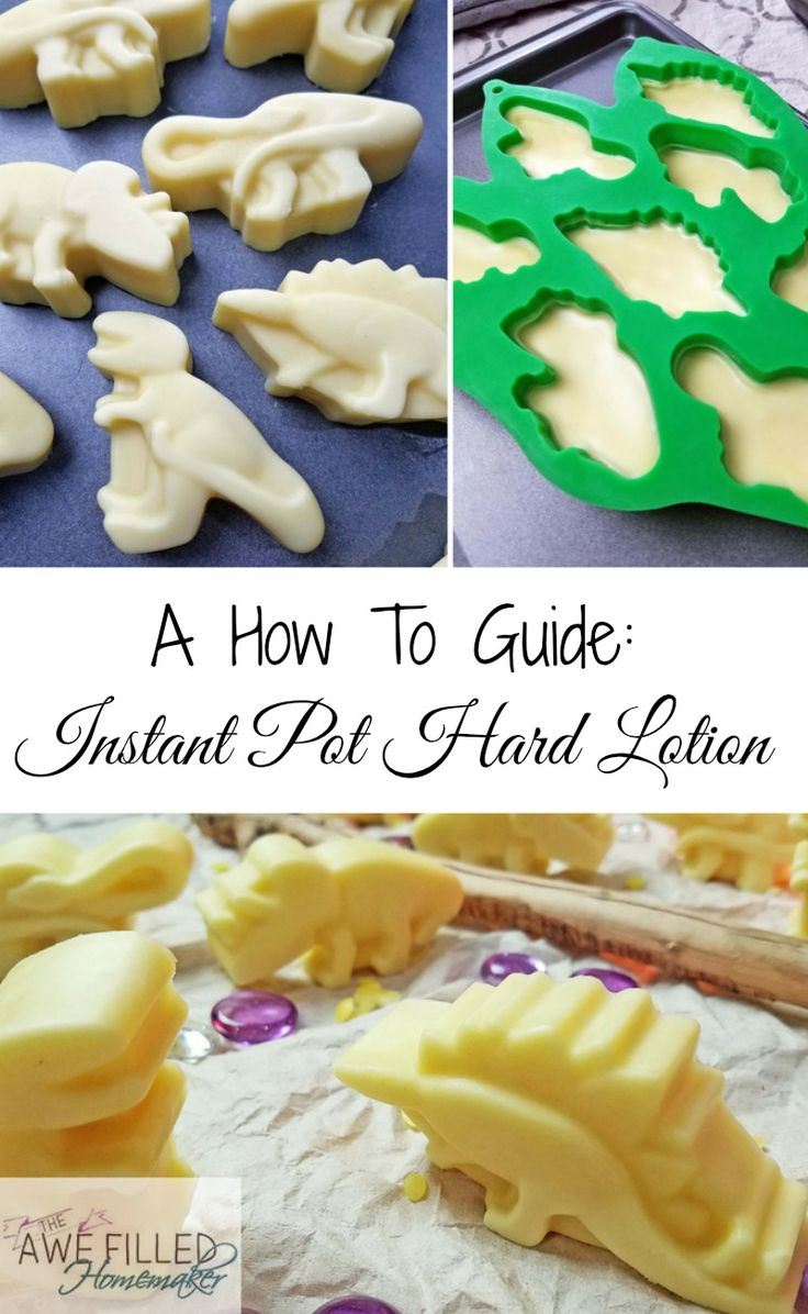 Did you know that hard lotion is actually better for your skin? You can find out why and also learn to make your own in the instant pot! via @AFHomemaker