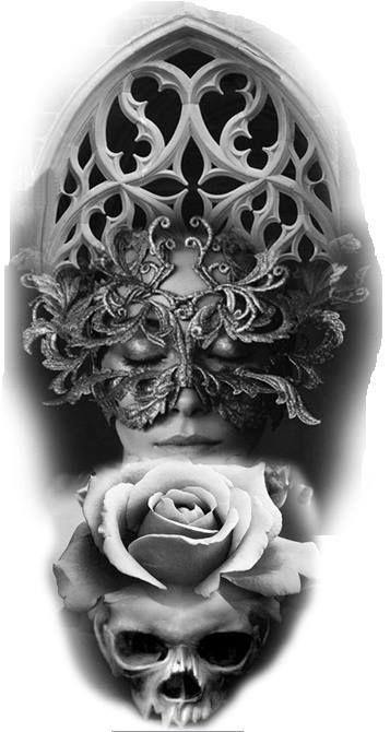 Dise 241 O Digital Masquerade Tattoo Tattoo Sleeve Designs