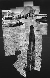 Prehistoric Museum Near Palm Springs, 1982  photographic collage, 84 1/2 x 56 1/2 in - by David Hockney
