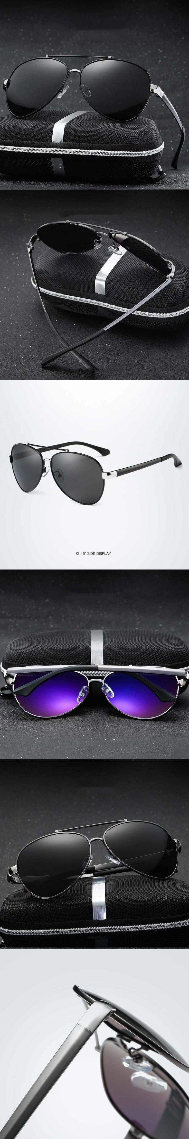 2017 Fashion Men's Polarized Sunglasses Driving Sun Glasses for Men UV400 Travel Driving Male Oculos Gafas De Sol XY8746