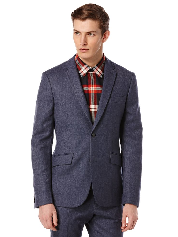 Perry Ellis Very Slim Wool Flannel Suit Jacket: 60% Wool.40% Polyester. Very Slim Fit. Fall 2015… #MensShirts #MensShoes #MensUnderwear