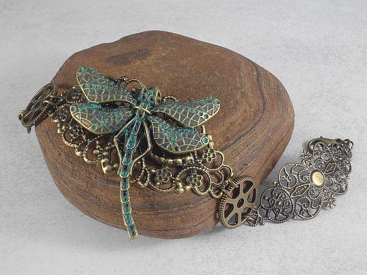 Armbänder - Vintage Armband Libelle patiniert - ein…
