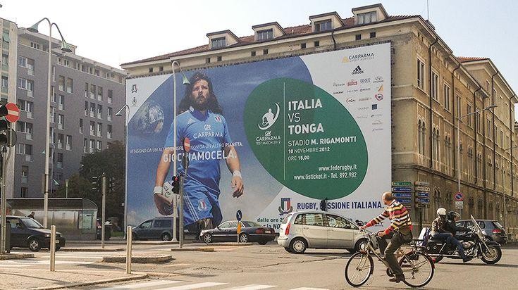 Rugby: Italia VS All Blacks - Campagna pubblicitaria - Maxi affissione