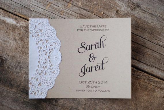 Handmade Place Card Modern Rustic Wedding Tented by postscripts