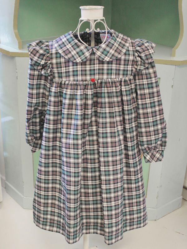Barnklänning grönrutig - 100 Years