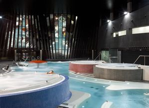 Termaria Casa del Agua, One of the largest aquatic leisure centres in Europe and the first thalassotherapy centre in Coruna, Spain (that is to say, with sea water) and the largest in Galicia.