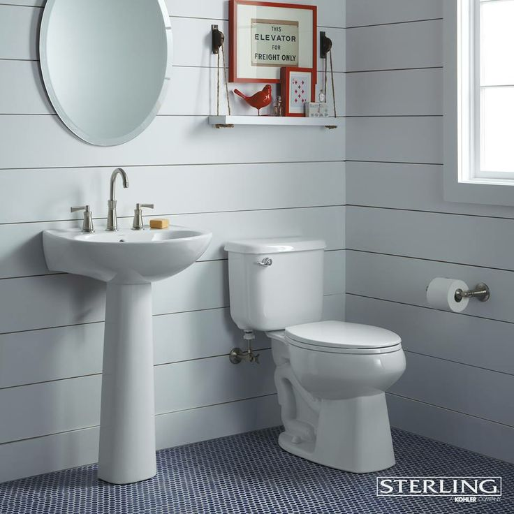Clean White Bathroom By Sterling Plumbing