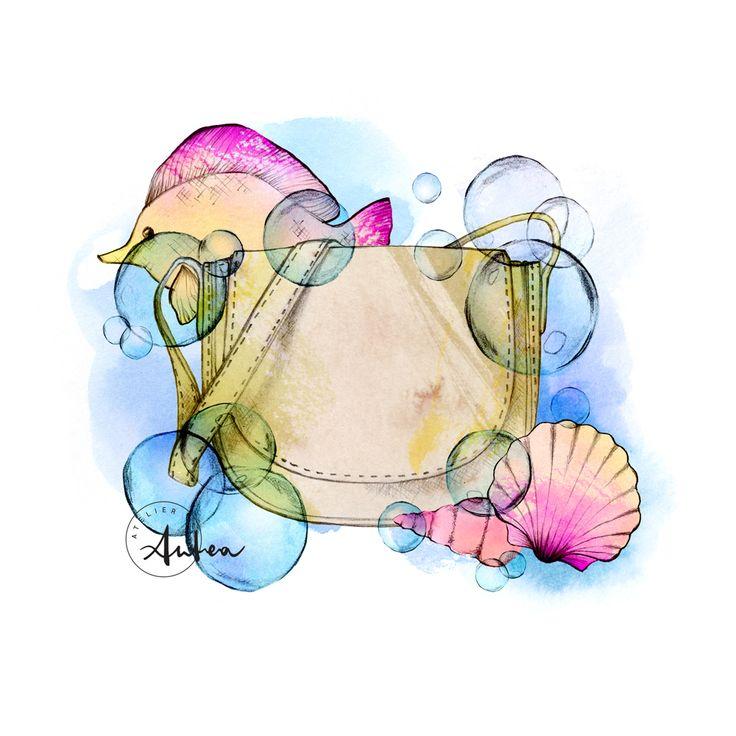 Underwater Mansur Gavriel by Camilla Locatelli