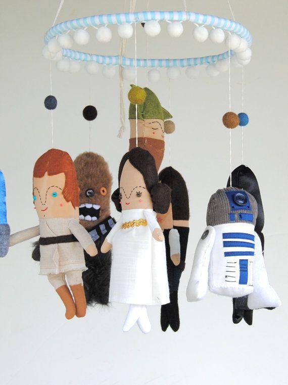 Star Wars Baby Mobile su ordinazione di PinkCheeksStudios su Etsy