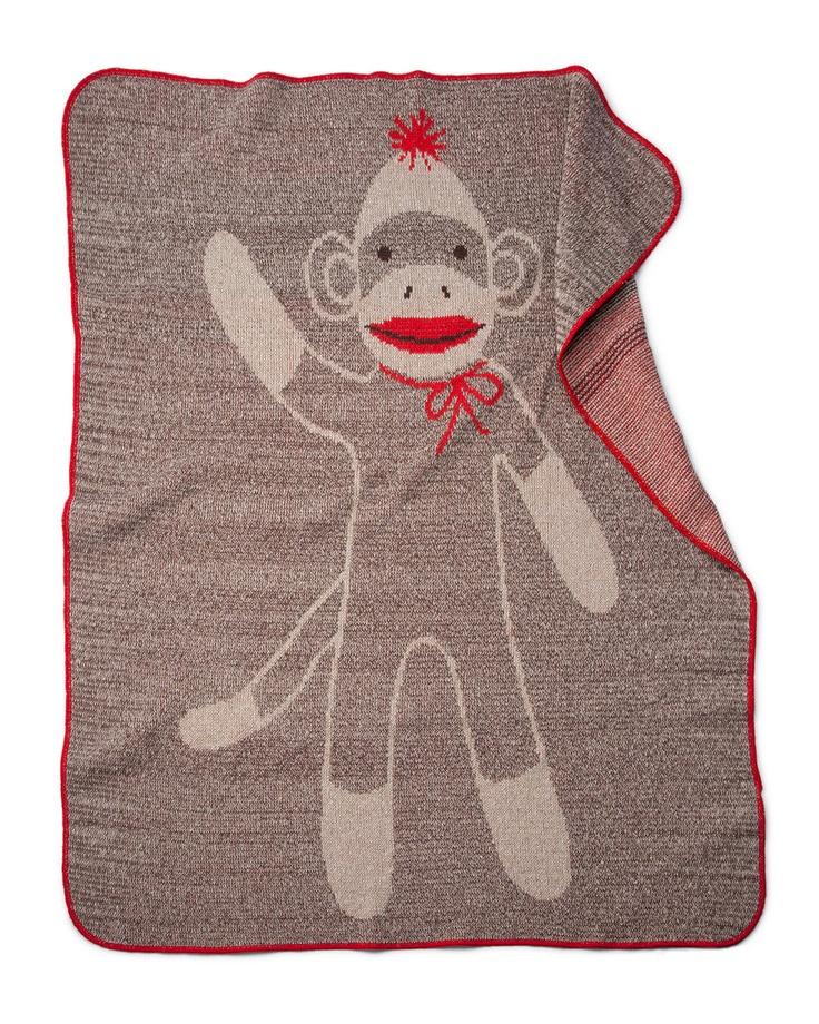 Uncommon Goods Sock Monkey Blanket ($40)