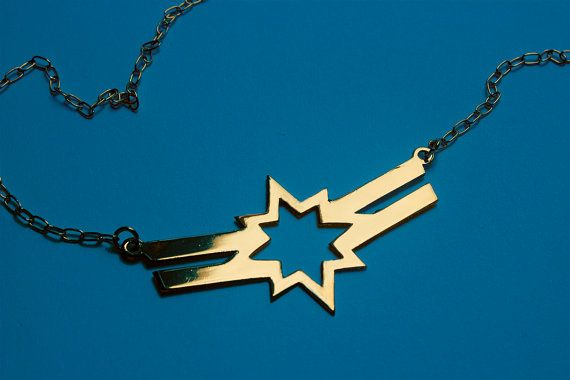 Love Captain Marvel/Ms Marvel. aka CAROL DANVERS Captain Marvel Carol Corps inspired necklace - 4 colors available