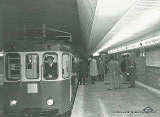 Convoy inaugural a su llegada la estación de Prosperidad. Foto Blog Madrid, Ferrocarriles y Transportes Urbanos