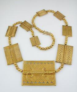 Akan Gold Beaded Necklace - FJ.6948 Origin: Ivroy Coast/Ghana Circa: 16 th Century AD to 20 th Century AD