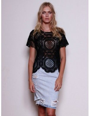 By Your Side Black Lace  Top also available in white  www.lemonfrankie.com.au