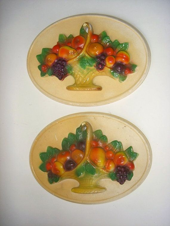 Vintage Fruit Wall Decor : Best images about chalkware on cherries