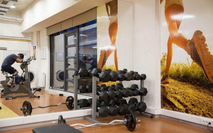 heim fitness einrichten bodenfliesen rutschfeste matten helle - fitnessstudio zuhause einrichten