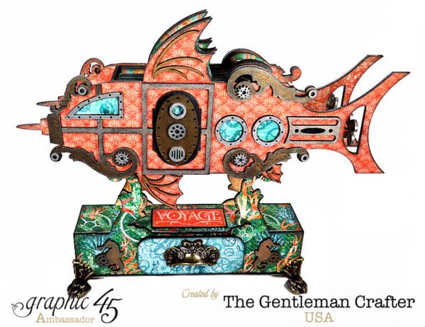Amazing altered watership by Jim the Gentleman Crafter using Voyage Beneath the…