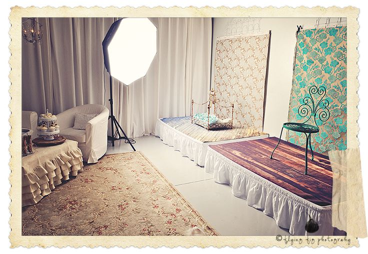 dedicated studio space instead of an in-home studio, where you can decorate as you please. look at the prop backdrop!