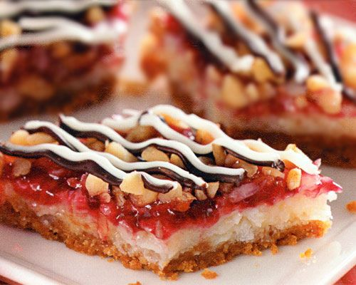 Raspberry Coconut Bars Recipe - http://www.allbakingrecipes.com/recipes/raspberry-coconut-bars-recipe/