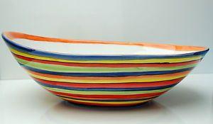 Mediterranes Geschirr ° Riesige Ovale Schale 40 CM ° Bunt ° Bassano Keramik ° | eBay