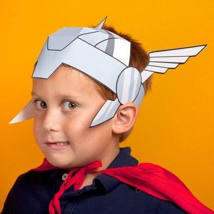 Look like Super Grover Helmet.   marvel-avengers-thor-helmet-printables http://spoonful.com/printables/thor-helmet