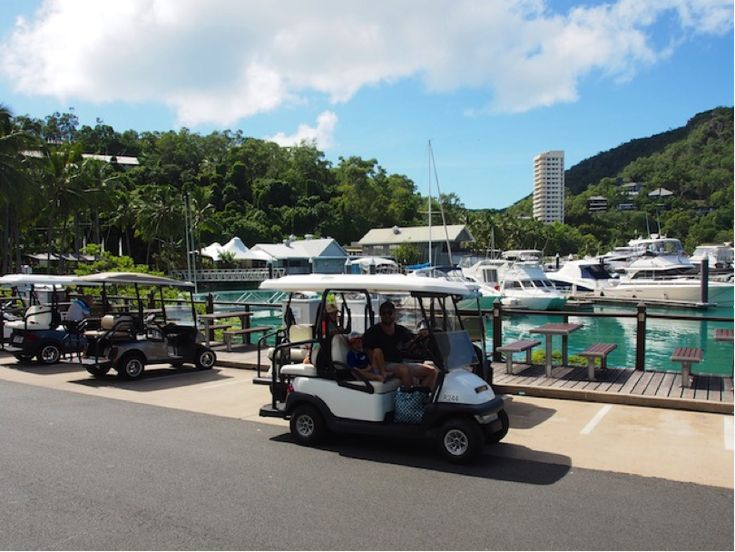 Cruise around in a golf buggy… the perfect island transport. #HamiltonIsland