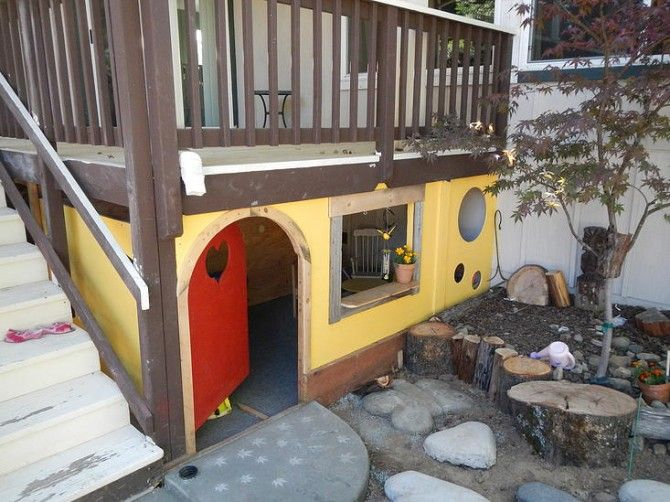 clubhouse for the kids & shelter for their outside toys? tb