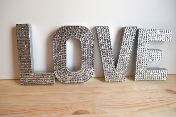 Sequin letters.  A potential DIY for the bride and groom chairs? myan_duong: Decor, Craft, Wedding Ideas, Weddings, Sequin Letters, Sequins, Valentine, Love Letters
