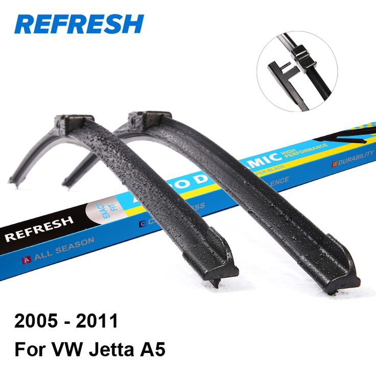 "Refresh Wiper Blades for Volkswagen Jetta A5 24""&19"" Fit Side Pin / Push Button Arms 2005 2006 2007 2008 2009 2010 2011 #Affiliate"