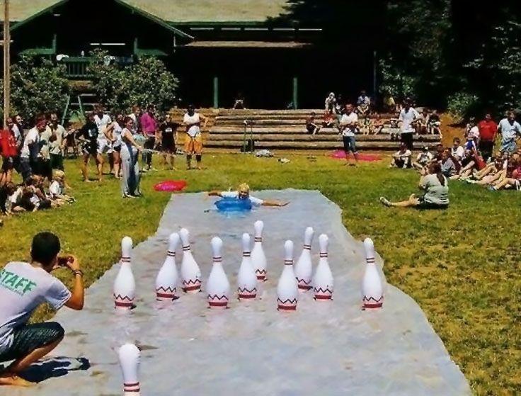 Slip 'n Slide Bowling!
