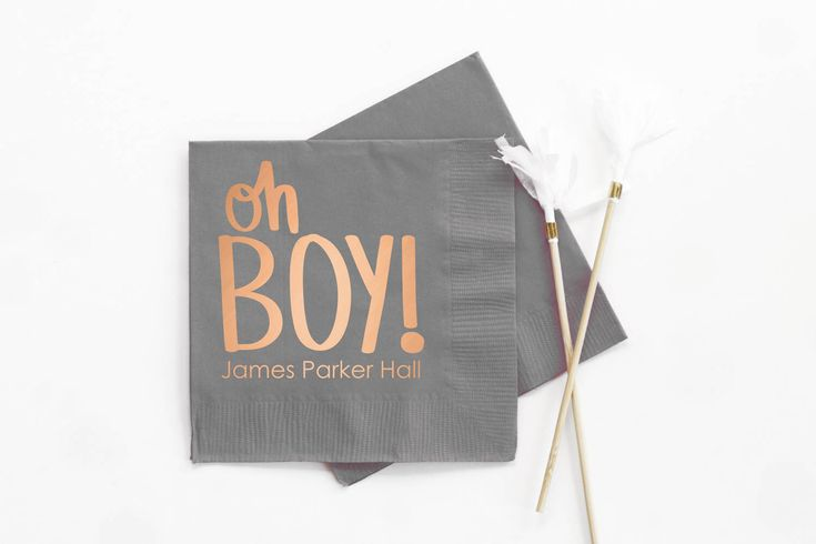 Boy Baby Shower Napkins Personalized Napkins Baby Shower Decorations for Boy Custom Printed Beverage Napkins Oh Boy Party Supplies Copper by WhenitRainsPaper on Etsy https://www.etsy.com/listing/519008484/boy-baby-shower-napkins-personalized